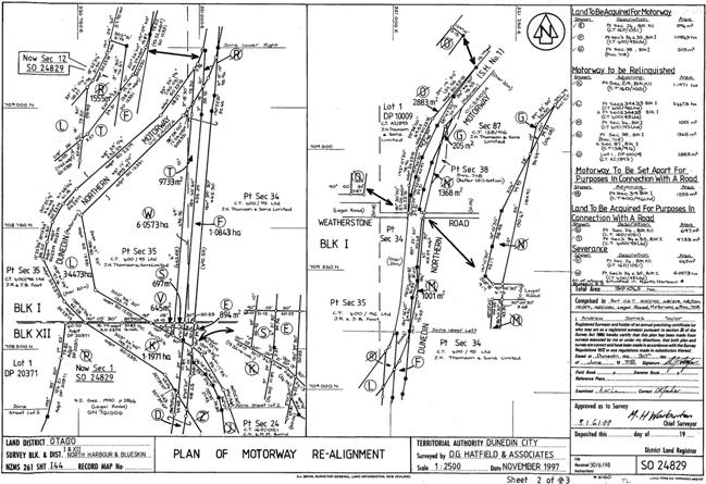 Survey Office Plan of Kilmog Realignment